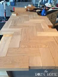 How To Kitchen Island Diy Wood Herringbone Counters Hometalk