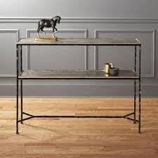 Black Console Table With Storage Black Metal Console Table
