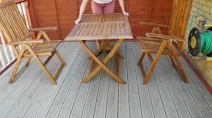 Garden Table Outdoor Acacia Garden Table And Folding Chairs Vidaxl Youtube
