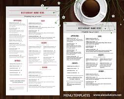 printable restaurant menu template photos graphics fonts themes