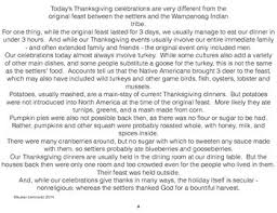 thanksgiving same and different comparing contrasting then