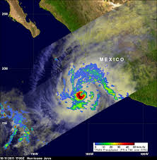 Mexico Precipitation Map by Nasa Hurricane Season 2011 Tropical Storm Jova Eastern Pacific
