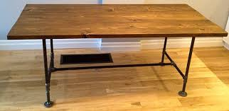 diy pipe desk plans diy pipe wood table pt 2 storefront life