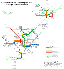 Metro Rail Dc Map by Your Transit Map Could Look Like This If Maryland Builds The Red