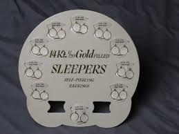 sleepers earrings home ear piercing kits vintage earpiercing