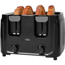 Sunbeam 4 Slice Toaster Review Rival 4 Slice Toaster Black Walmart Com