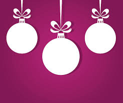 simple three hanging christmas baubles clip art vector images