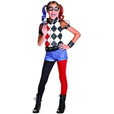 Halloween Costumes 11 12 Olds Rubie U0027s Official Dc Super Hero U0027s Deluxe Harley Quinn Costume