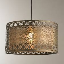 Metal Ceiling Light Shades Filigree Lotus Metal Shade Pendant Shades Of Light