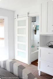 frosted glass sliding barn door i93 in easylovely home design