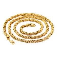 aliexpress buy nyuk new fashion american style gold nyuk new arrvial twisted chain necklace gold iron hip hop fashion