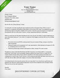 Sample Resume Receptionist Cover Letter Receptionist Cover Letter Example Receptionist