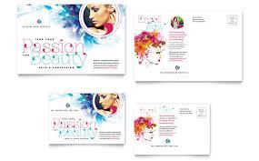free microsoft word postcard template cosmetology business card u0026 letterhead template design