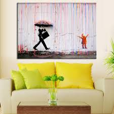 colorful rain living room abstract figure oil painting hand