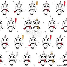 new year wrapping paper christmas seamless pattern with pandas wrapping paper happy