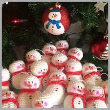 ornaments snowman doubletrebletrinkets