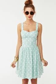 50s style mint white polka dot bombshell pinup full skirt sun