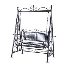 Two Person Swing Chair Outsunny Garden Metal Swing Chair Outdoor Patio Hammock Bench Cast