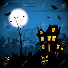 halloween background vector free scary house halloween background royalty free cliparts vectors