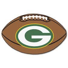 Green Bay Packers Home Decor Amazon Com Fanmats Nfl Green Bay Packers Nylon Face Football Rug