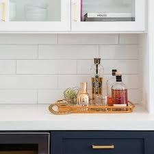 White Kitchen Cabinets Brass Pulls Design Ideas - Kitchen cabinets tulsa