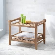Wood Shower Stool Plastic Shower Seat Signature Hardware