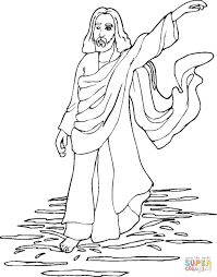 walking on the water coloring page free printable coloring pages