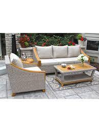 4 Piece Wicker Patio Furniture Outdoor Conversation Set Resin Wicker Conversation Patio Set
