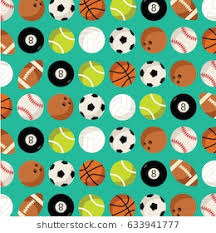 sports wrapping paper paper print present vector flat design stock vector 627744182