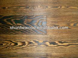 antique burnt color brushed oak multi layer engineered wood
