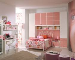 bedroom awesome white pink wood modern design interior teenage