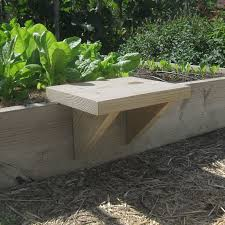 diy raised bed seat the solution was to build a movable