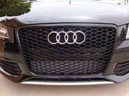 audi rs4 grill gloss black rs4 honeycomb grille w o plate holder