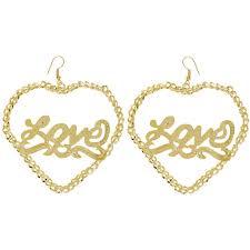 name plate earrings heart nameplate chain hoop earrings