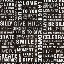 black and white gift wrap inspired words wrapping paper the container store