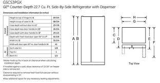 cabinet depth refrigerator dimensions counter depth refrigerator size contactmpow