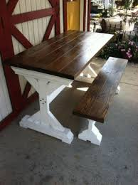 Table With Benches Set Farmhouse Table And Bench Set Foter