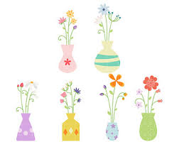 Clipart Vase Of Flowers Flower Pot Clip Art Etsy