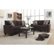 serta rta san paolo mink brown espresso polyester sofa cr43535pb