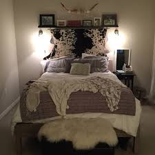 updated snap of my bedroom i found my dream cowhide at the local