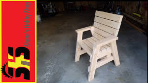 2x4 chair youtube