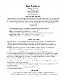 Resume Summary Examples Entry Level by Dental Assistant Resume Sample With Resume Of Dental Assistant And