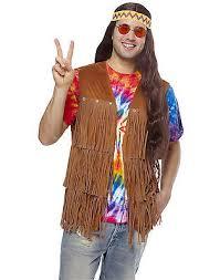 Flower Child Halloween Costume - fringe vest hippie 70s flower child mens halloween costume