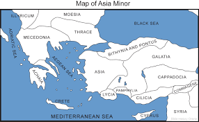 Ap World History Regions Map by Map Of Asia Minor Bible History Online