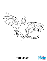 tuesday the parrot from robinson crusoe coloring pages hellokids com