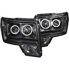 2012 ford f150 projector headlights anzo usa ford f 150 09 14 projector headlights halo led black ccfl