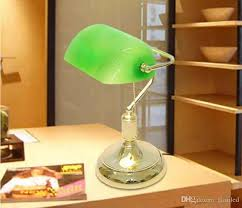 green glass shade bankers l best vintage bank table ls retro brass bankers l green glass