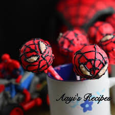 spiderman cake pops aayis recipes