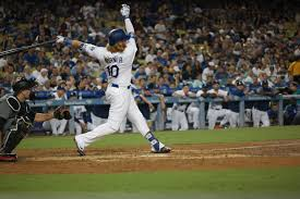 justin turner comes up big with walk off in nlcs clubhouse corner