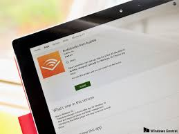 audiobooks for audible lands on windows 10 for pc tablet and